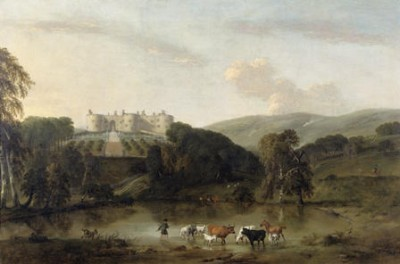 Chirk Castle from the North, Peter Tillemans, 1725