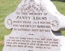 Fanny Adams' grave, Alton cemetery, Hampshire