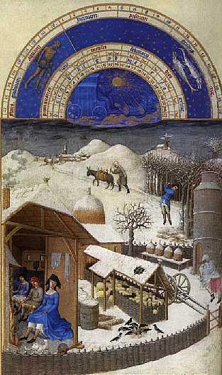 'Fevrier' from Les Tres Riche Heures du Duc De Berry